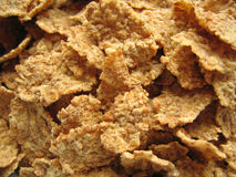 Brown Flakes. Close-up of breakfast cereal stock images