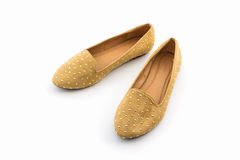 Brown flat shoes. Stock Images