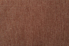 Brown flax cotton fabric texture Stock Image