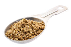 Brown flax meal Stock Photos