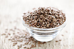 Brown flax seed Stock Image