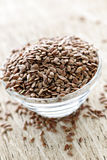 Brown flax seed Royalty Free Stock Photo