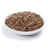 Brown flax seed Stock Photo