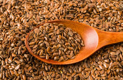 Brown flax seed Royalty Free Stock Image
