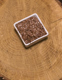 Brown flax seed Royalty Free Stock Photography
