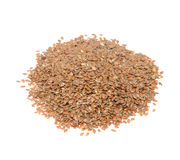 Brown Flax Seeds Stock Images