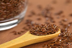 Brown Flax Seeds Stock Image