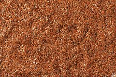 Brown flax seeds background Stock Images