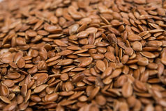 Brown flax seeds Royalty Free Stock Photos