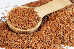 Brown Flax Seeds royalty free stock photo