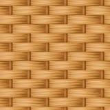 Brown-Flechtweidenbeschaffenheit Vektornahtloser Hintergrund Stockbilder