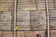 Brown floor bamboo texture. Pattern Royalty Free Stock Image