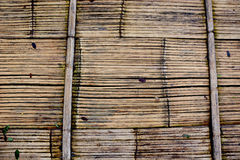 Brown floor bamboo texture. Pattern Royalty Free Stock Photos