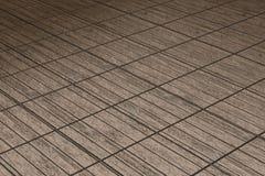 Brown floor in wooden lists Stock Image