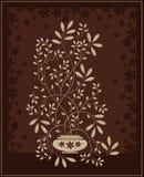 Brown-floral-1 Fotografia Stock Libera da Diritti