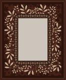 Brown-floral-3 Royalty Illustrazione gratis