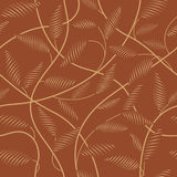 Brown  floral   background. Seamless brown abstract  floral   background Royalty Free Stock Images