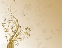 Brown floral background stock image