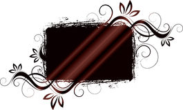 Brown Floral design Royalty Free Stock Images