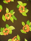 Brown floral fabric Royalty Free Stock Image