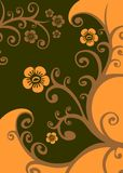 Brown floral pattern Royalty Free Stock Photo