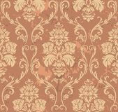 Brown Floral Pattern Stock Photos