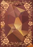 Brown floral pattern Royalty Free Stock Images