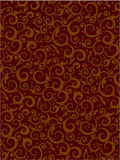 Brown floral scrolls pattern background Stock Images