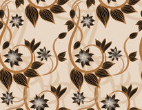 Brown floral seamless background Royalty Free Stock Image