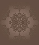 Brown floral seamless patterm Stock Image