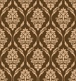 Brown floral seamless pattern Royalty Free Stock Image