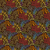 Brown floral seamless pattern Royalty Free Stock Photos