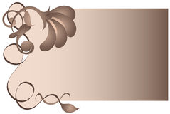 Brown Floral and Swirl Background Stock Photo