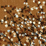 Brown floral tree print Royalty Free Stock Photo