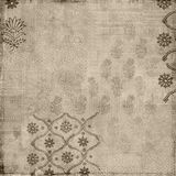 Brown Floral Vintage Style Batik Stamp background Royalty Free Stock Photo
