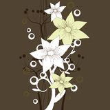 Brown floral wallpaper royalty free illustration