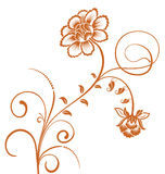 Brown flower pattern Royalty Free Stock Image