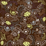 Brown flower pattern Stock Photos