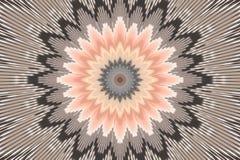 Brown flower pattern floral kaleidoscope. graphics hypnotic. Brown flower pattern floral kaleidoscope background motifs. graphics hypnotic royalty free illustration