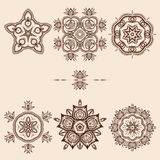 Brown Flower Pattern Pack Stock Photo