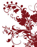 Brown flower pattern silhouette Stock Photography
