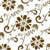 Brown flower patterns Royalty Free Stock Images