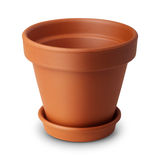Brown flower or plant pot Stock Image