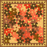 Brown flowers background. Vivid, colorful, repeating floral background Stock Image