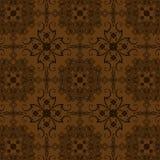 Brown Flowers Vintage Style Wallpaper Stock Image
