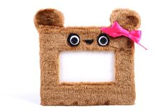 Brown fluffy photo frame Stock Photo