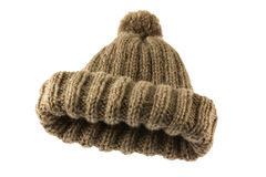 Brown folding crochet hat 2 Stock Images