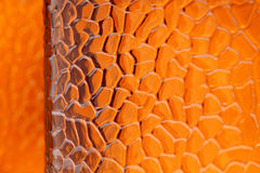 Brown, fondo de cristal anaranjado Fotografía de archivo libre de regalías