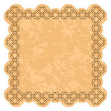 Brown vector frame with grunge background Royalty Free Stock Photography