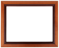 Brown frame. Mahogany picture frame isolated on white color. Stock Images
